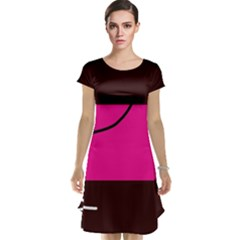 Pink square  Cap Sleeve Nightdress