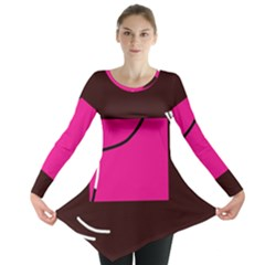 Pink square  Long Sleeve Tunic
