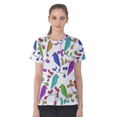 Birds and flowers Women s Cotton Tee