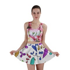 Birds and flowers Mini Skirt