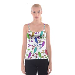 Birds and flowers Spaghetti Strap Top