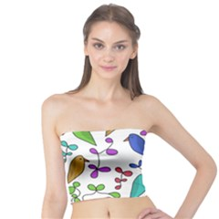 Birds and flowers Tube Top