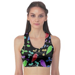 Birds and flowers 2 Sports Bra