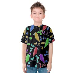 Birds and flowers 2 Kids  Cotton Tee