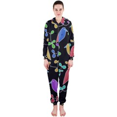 Birds and flowers 2 Hooded Jumpsuit (Ladies)