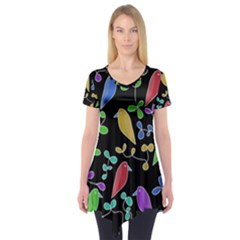Birds and flowers 2 Short Sleeve Tunic