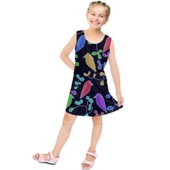 Birds and flowers 2 Kids  Tunic Dress