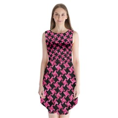 HTH2 BK-PK MARBLE Sleeveless Chiffon Dress