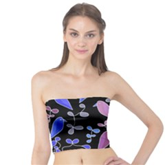Flowers and birds - blue and purple Tube Top