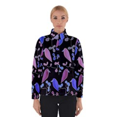 Flowers and birds - blue and purple Winterwear