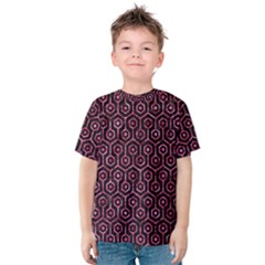 HXG1 BK-PK MARBLE Kids  Cotton Tee
