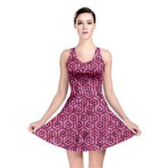 HXG1 BK-PK MARBLE (R) Reversible Skater Dress