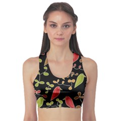 Flowers and birds  Sports Bra