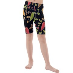 Flowers and birds  Kids  Mid Length Swim Shorts