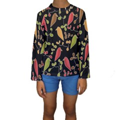 Flowers and birds  Kids  Long Sleeve Swimwear