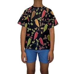 Flowers and birds  Kids  Short Sleeve Swimwear