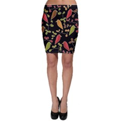 Flowers and birds  Bodycon Skirt