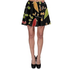 Flowers and birds  Skater Skirt