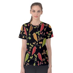 Flowers and birds  Women s Cotton Tee