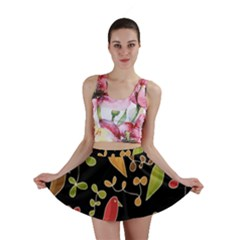 Flowers and birds  Mini Skirt