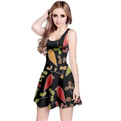 Flowers and birds  Reversible Sleeveless Dress