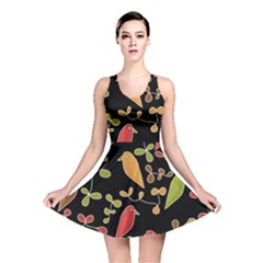 Flowers and birds  Reversible Skater Dress