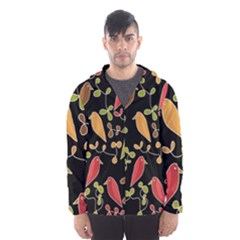 Flowers and birds  Hooded Wind Breaker (Men)