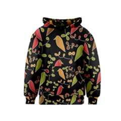 Flowers and birds  Kids  Pullover Hoodie