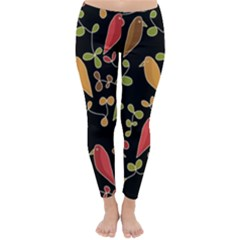 Flowers and birds  Classic Winter Leggings