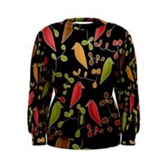 Flowers and birds  Women s Sweatshirt
