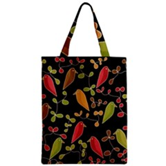 Flowers and birds  Zipper Classic Tote Bag