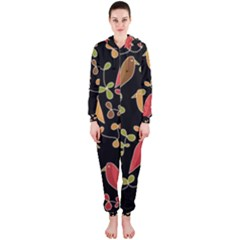 Flowers and birds  Hooded Jumpsuit (Ladies)