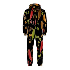 Flowers and birds  Hooded Jumpsuit (Kids)