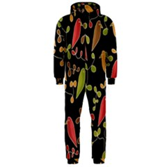 Flowers and birds  Hooded Jumpsuit (Men)