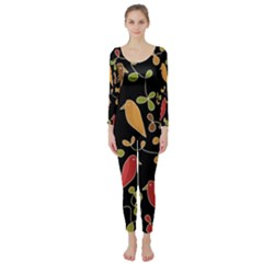 Flowers and birds  Long Sleeve Catsuit