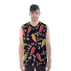 Flowers and birds  Men s Basketball Tank Top