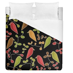 Flowers and birds  Duvet Cover (Queen Size)