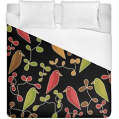 Flowers and birds  Duvet Cover (King Size)