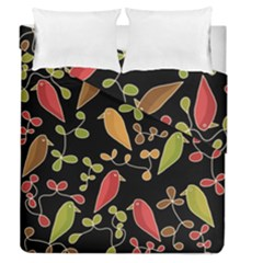 Flowers and birds  Duvet Cover Double Side (Queen Size)