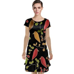 Flowers and birds  Cap Sleeve Nightdress
