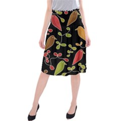 Flowers and birds  Midi Beach Skirt