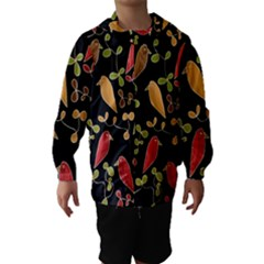Flowers and birds  Hooded Wind Breaker (Kids)