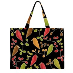 Flowers and birds  Large Tote Bag