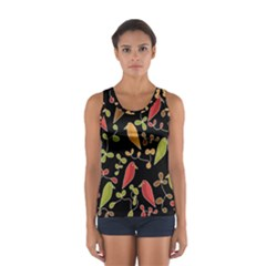 Flowers and birds  Women s Sport Tank Top