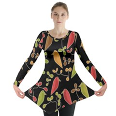 Flowers and birds  Long Sleeve Tunic