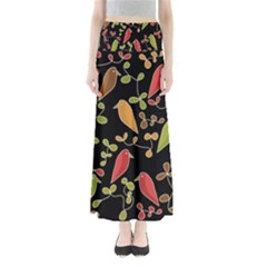 Flowers and birds  Maxi Skirts