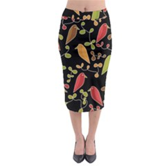 Flowers and birds  Midi Pencil Skirt