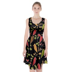 Flowers and birds  Racerback Midi Dress