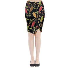Flowers and birds  Midi Wrap Pencil Skirt