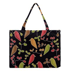 Flowers and birds  Medium Tote Bag